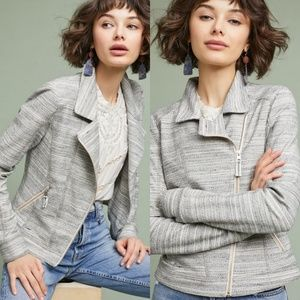 Anthropologie Caitlin Knit Moto Jacket